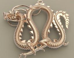 3D printable model Dragon 3 Pendant