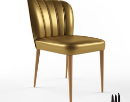 3D model Brabbu Dalyan dining chair