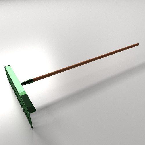 Landscape rake 3d model 3ds fbx blend dae for Garden design 3d tools