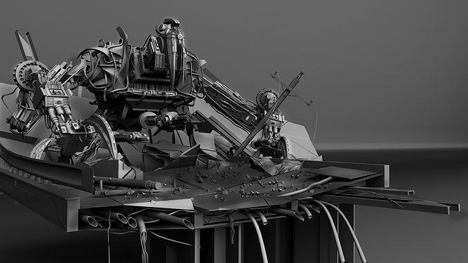 titan mech 3d model ma mb 1