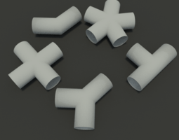 Some Pipe Joints 3D model