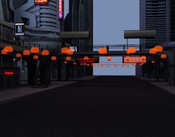 City Scenery 3D model