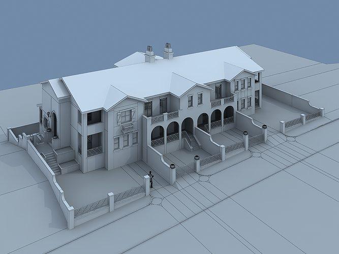 Villa house 3d model cgtrader for Villas 3d model