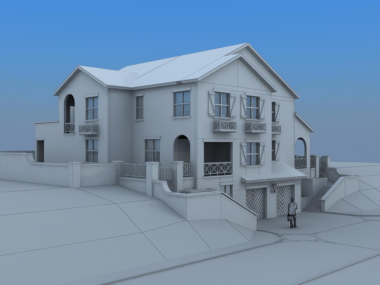 Villa house 3d model max for Villas 3d model