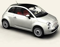3D Fiat 500 2008