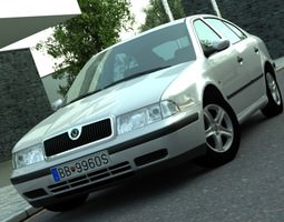 animated skoda octavia 1997 3d