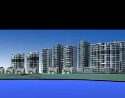 3d exotic urban designed town