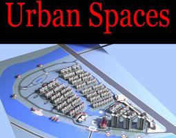 3d urban designed city space