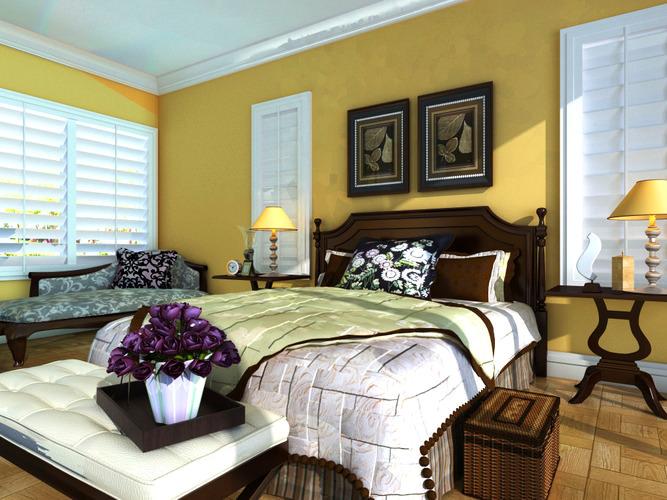 Deluxe bedroom with divan 3d cgtrader for Bedroom divan