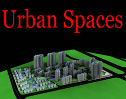 urban designed grand commercial town 3d