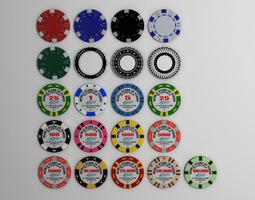Gambling chips 3D model