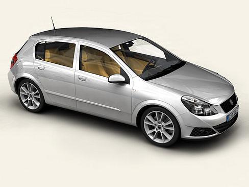 generic car compact class 3d model max obj mtl 3ds tga 1