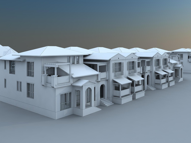 Villa house collection 3d model max for Villas 3d model