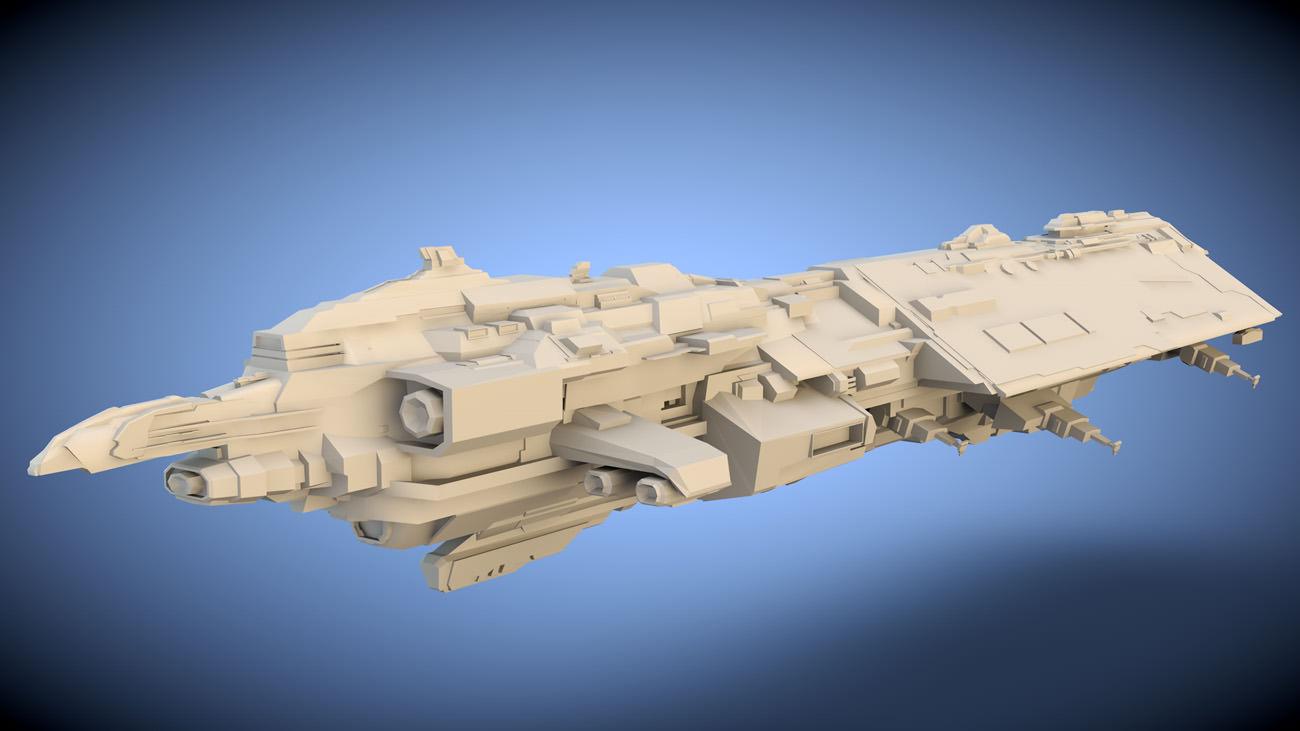 Explorer Spaceship Free 3D Model OBJ FBX C4D