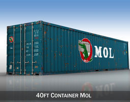 3D model 40ft Shipping Container - MOL