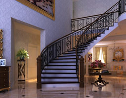 Eminent Hall with Staircase 3D