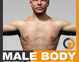 human male body textured - anatomy 3d model max obj 3ds fbx c4d lwo lw lws