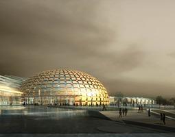 3D Building with Posh Exterior Design