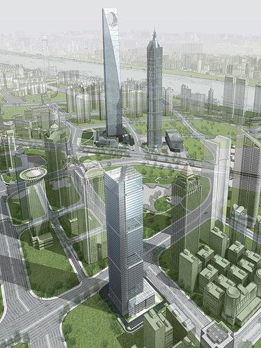elite skyscraper with posh structure 3d model max 1