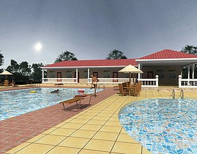 3D model Posh Swimming Pool by The House