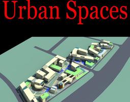 3d model elegant urban city design