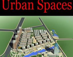 3d urban city with posh blocks design
