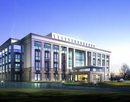 luxury office building design 3d