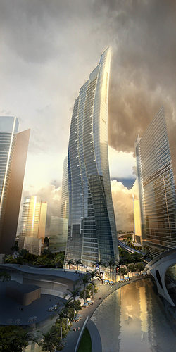 3d Model Exotic Skyscraper Design Cgtrader