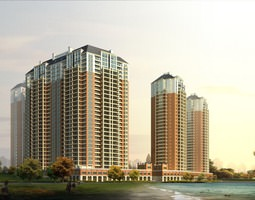 high-rise building design 3d model