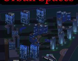 3d urban designed metropolitan city