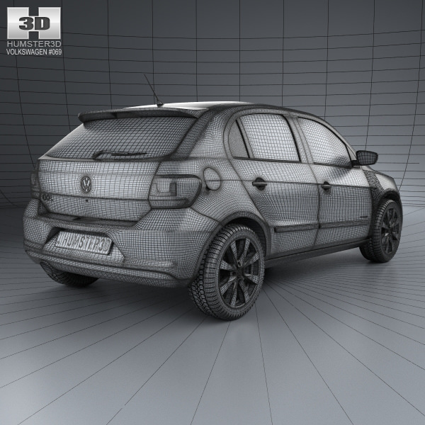 3d model volkswagen gol 5 door 2012 cgtrader pbr file preview presented by cgtrader malvernweather Images