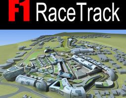 3d f1 racetrack