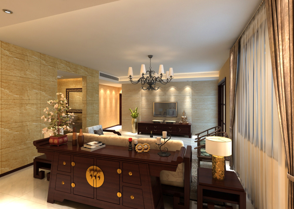 Ritzy drawing room with fancy furniture 3d model max for Drawing room furniture pictures
