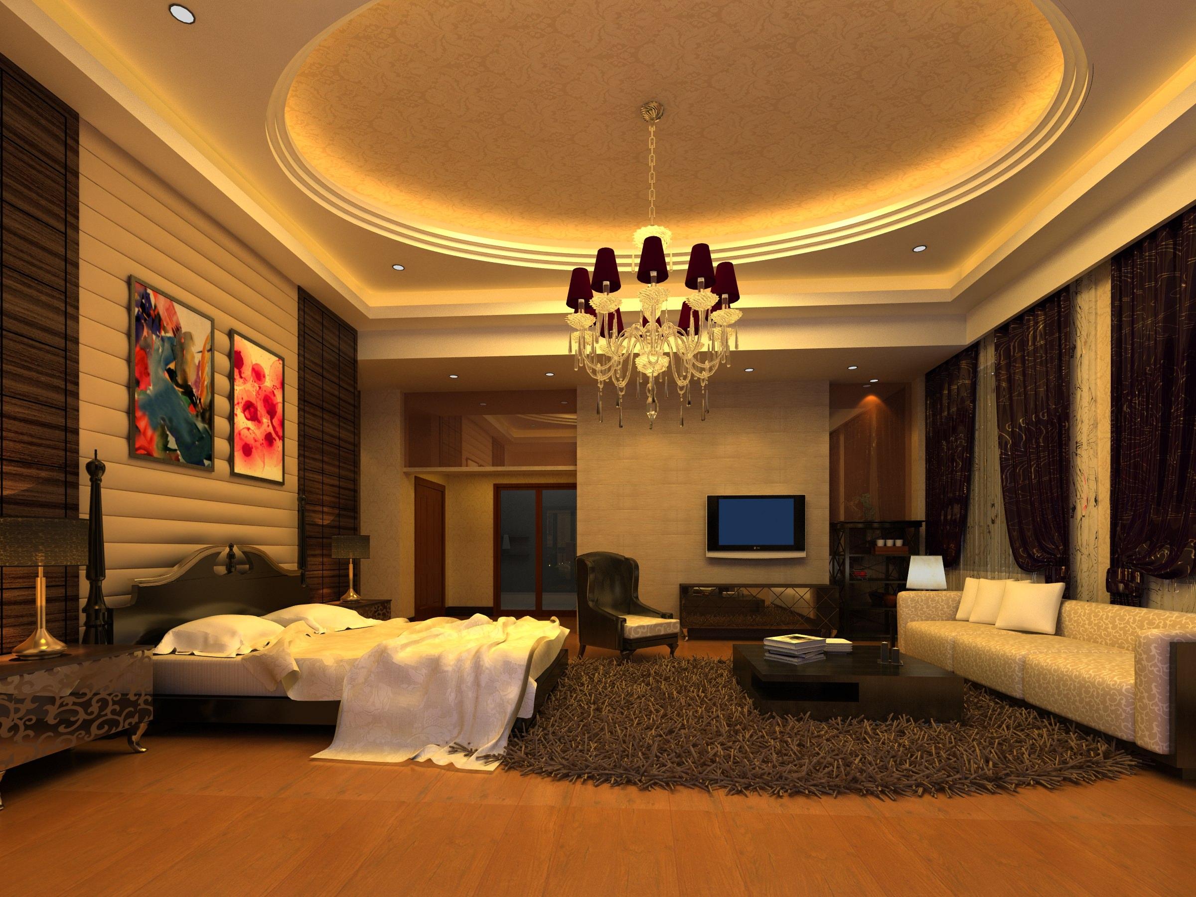 Modern Bedroom Rug: Modern Design Bedroom With Rug 3D Model MAX