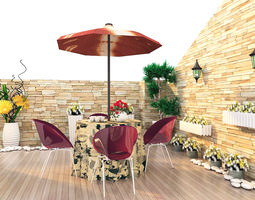 3D model Eminent Balcony with Furnitures