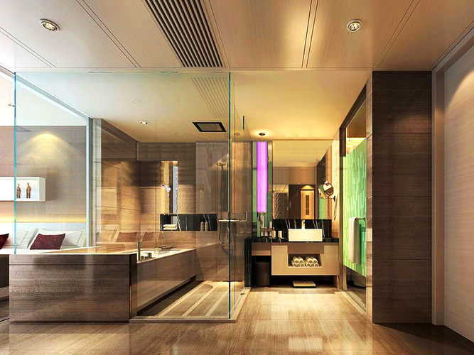 Bathroom Design 3d Model : Bathroom with exotic interior design d model max
