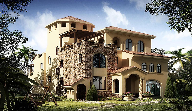3d villa 015 3d model max 1