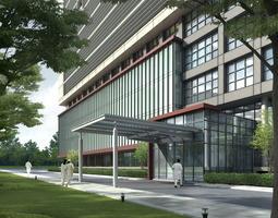 Hospital Building 743 3D Models