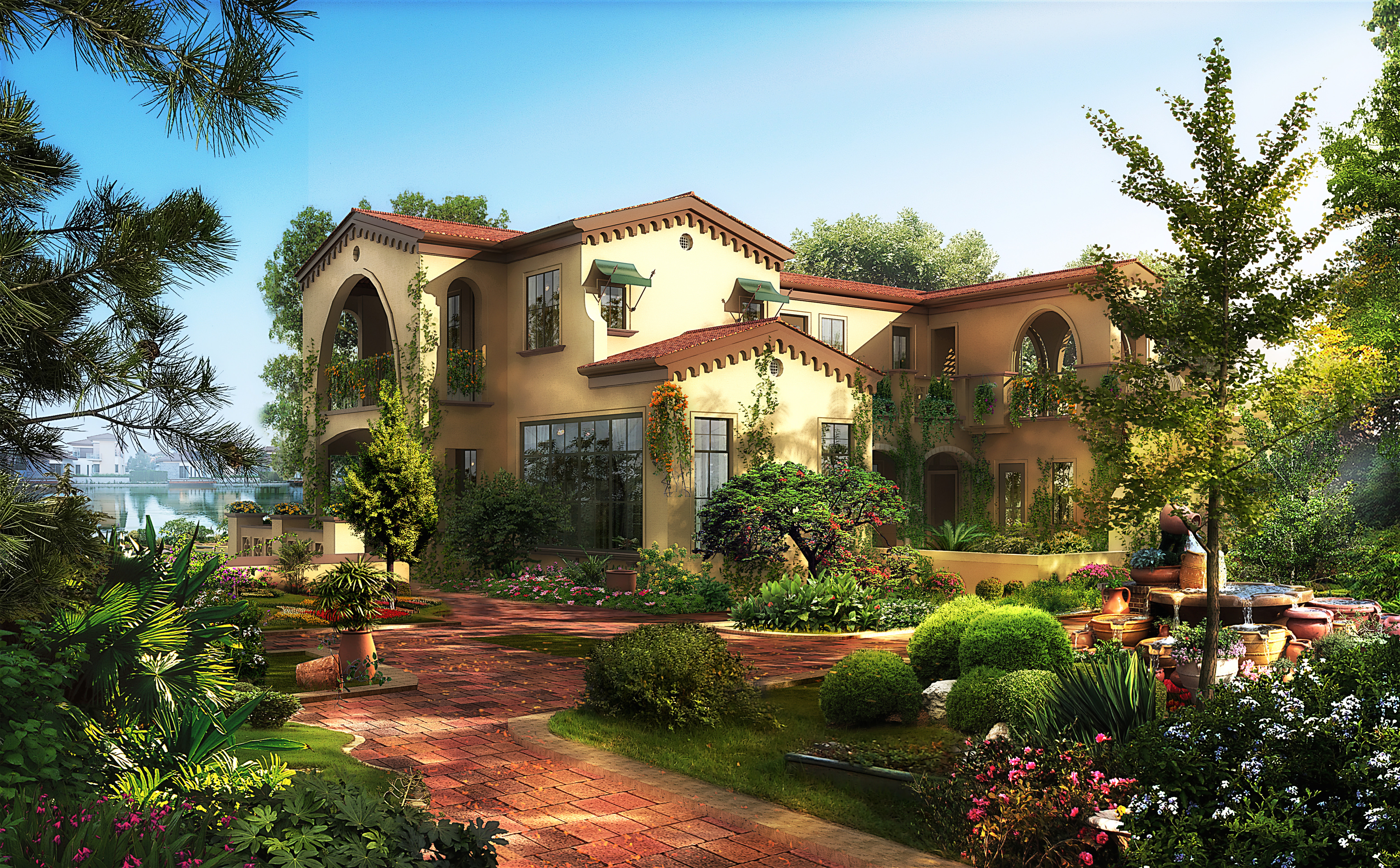 Luxury photorealistic house 667 3d models 3d model max for Luxury home models