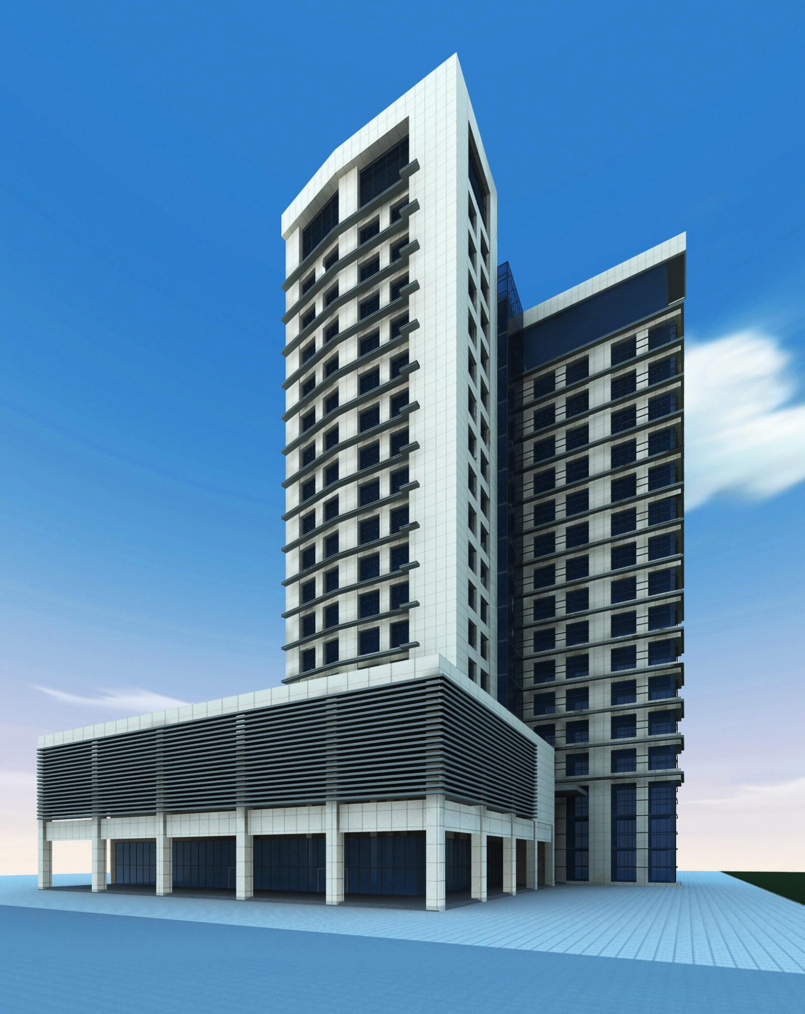 3d building 125 3d model max for 3d max building
