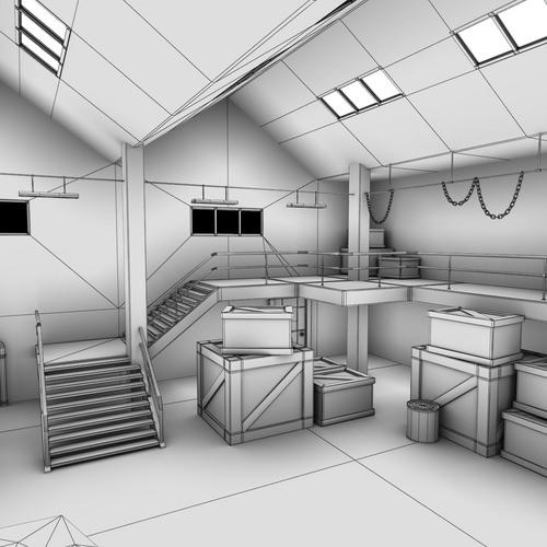warehouse interior 3d model max obj fbx lwo lw lws ma mb cgtrader