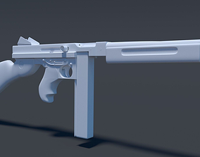 Thompson assault rifle High Poly 3D
