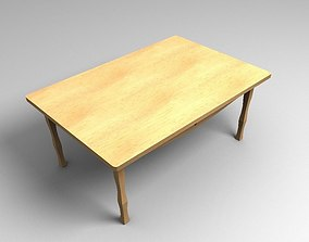 3D model low-poly Wooden Table