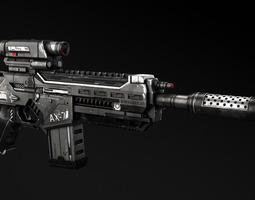 3D AX-7 Assault Rifle
