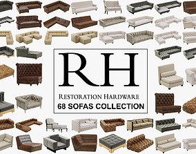 Restoration Hardware 68 Sofas set 3D