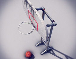 3d model game-ready basketball post