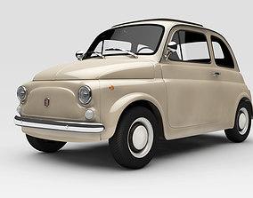 Fiat 500 3D model cinquecento