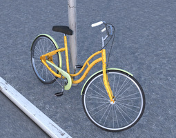 3d model bycicle old style