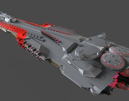 3d model pg defense cruiser