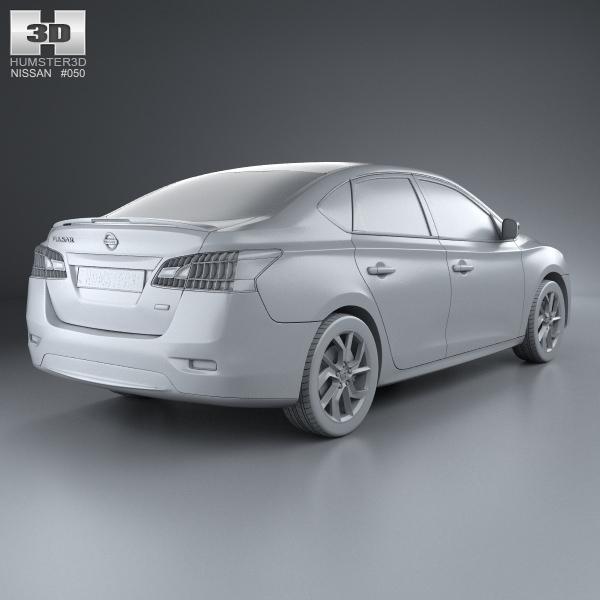 Nissan Pulsar Sentra 2014 3D Model MAX OBJ 3DS FBX C4D LWO ...